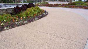 Exposed Colored Concrete